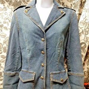 Moschino blue denim star jacket